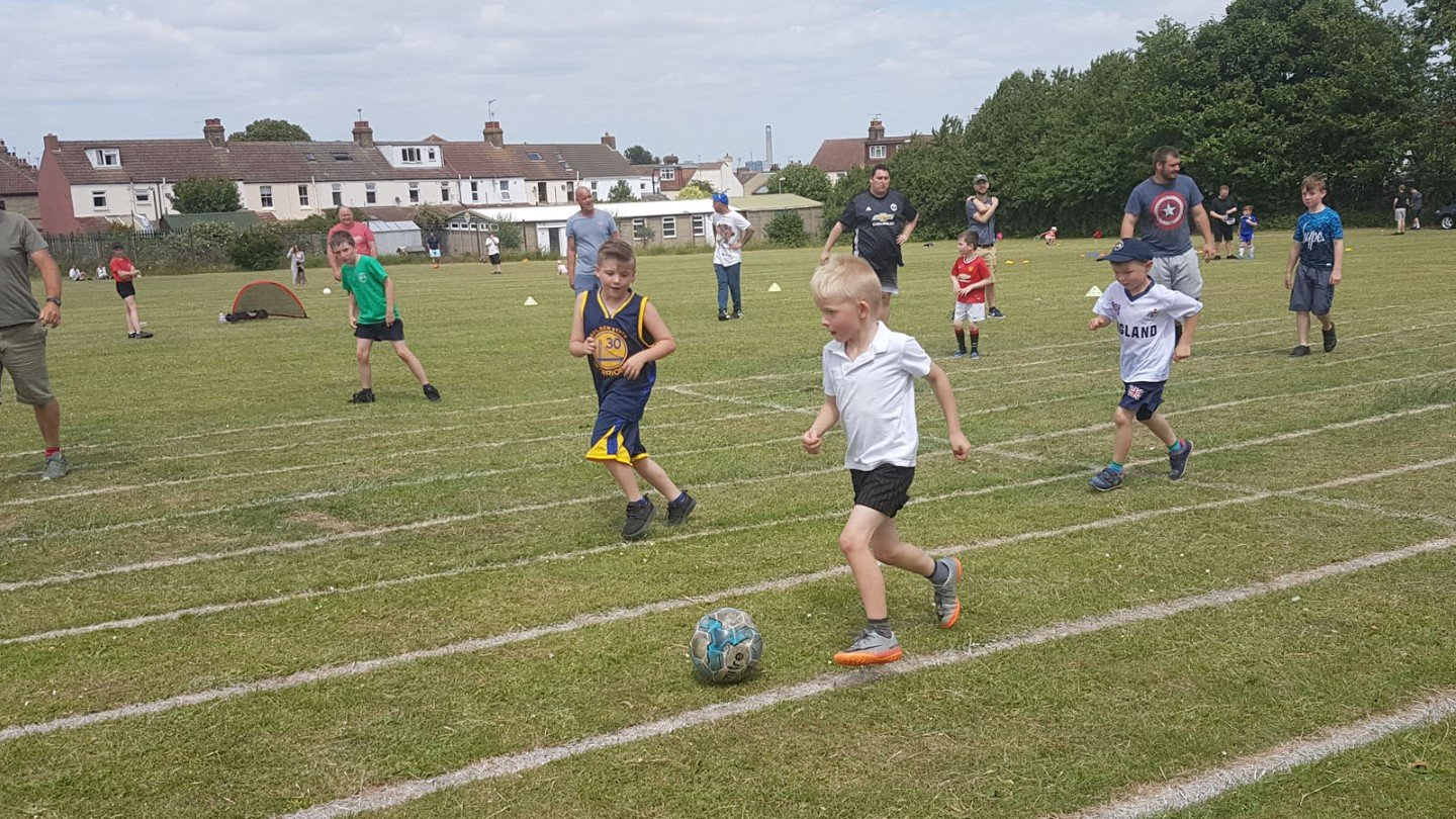 Over 100 parents and children took part in the football festival