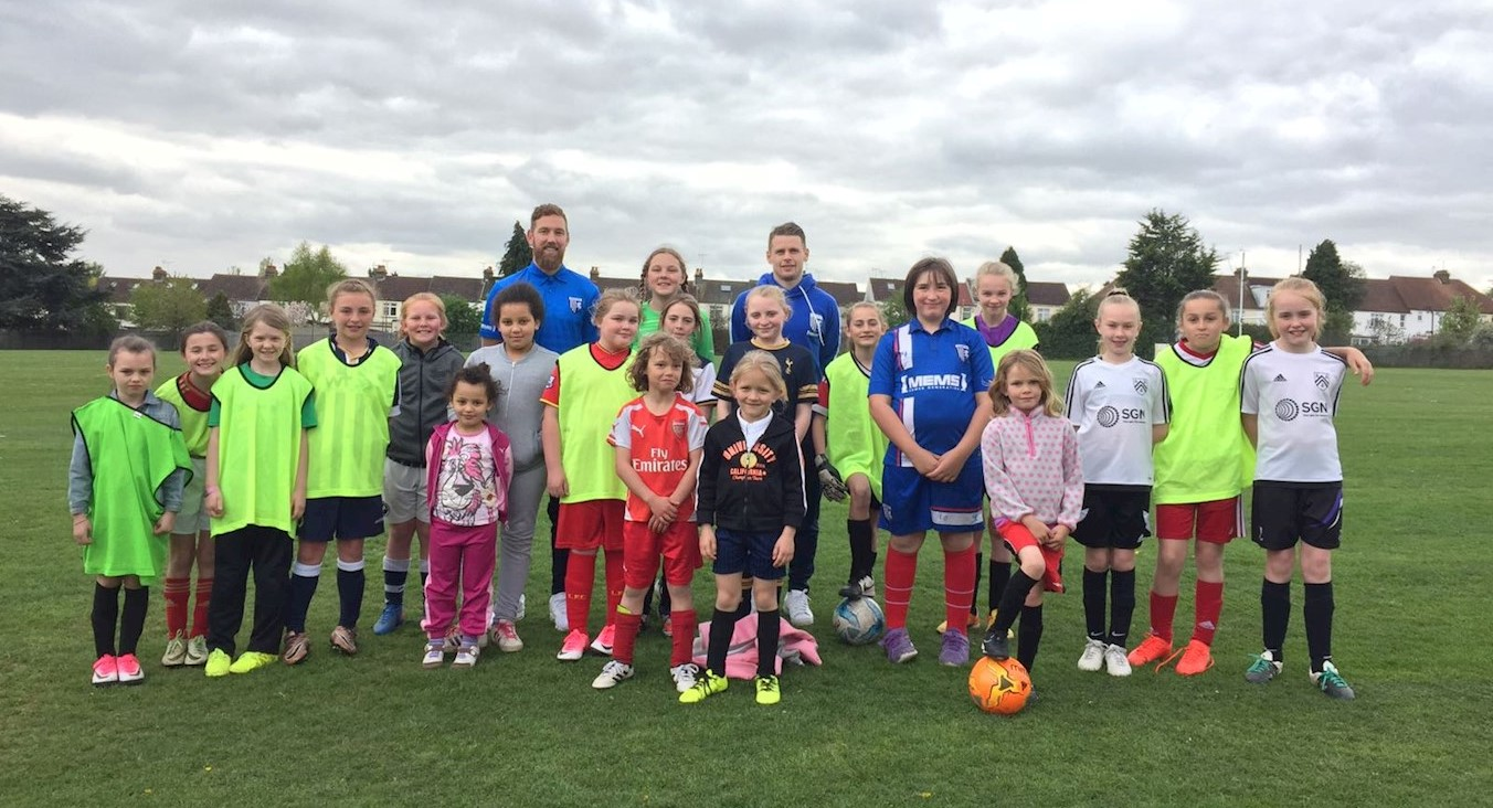 Gills players visited our Girls Only session in Easter